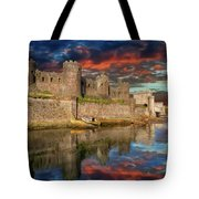 Conwy Castle Sunset Tote Bag