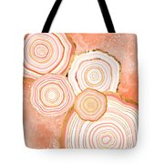 Coral Agate Abstract Tote Bag