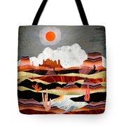 Coral Desert Lake Tote Bag