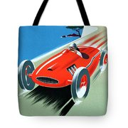 Cote D Azur, French Rivera Vintage Racing Poster Tote Bag