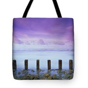 Cotton Candy Skies Over The Sea Tote Bag