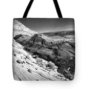 Cottonwood Creek Strange Rocks 7 Bw Tote Bag
