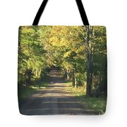 Country Road In Fall Tote Bag