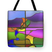 Country View With Frame Tote Bag