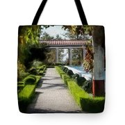 Painted Texture Courtyard Landscape Getty Villa California  Tote Bag