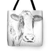 Cow Doodle Tote Bag by Monique Faella