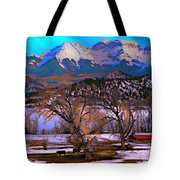 Cows And Hay On The Ground Tote Bag