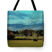 Cows Eat And Chew Their Cud Tote Bag