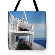 Cozy Walk -  Painterly Ferry To Victoria Tote Bag