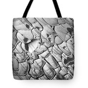 Cracked Earth Abstract Tote Bag