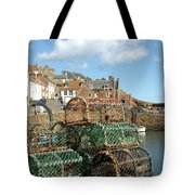 Crail Harbour And Lobster Pots Tote Bag