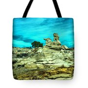 Crazy Rock Formations In New Mexico Tote Bag