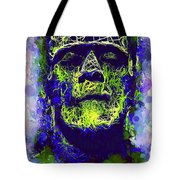 Frankenstein Watercolor Tote Bag