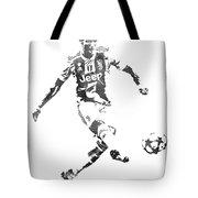 Cristiano Ronaldo Juventus Water Color Pixel Art 1 Tote Bag