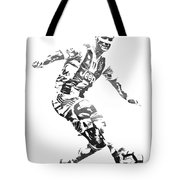 Cristiano Ronaldo Juventus Water Color Pixel Art 3 Tote Bag