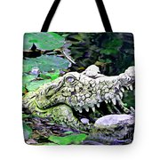 Crocodile Profile. Tote Bag