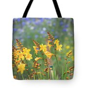 Crocosmia Buttercup Flowers Tote Bag