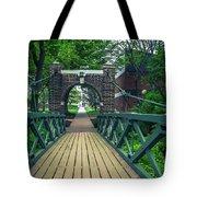 Crossing The Kissing Bridge Tote Bag