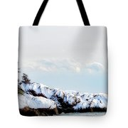 Crow Island, Winter Light Tote Bag by Michael Hubley