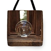Crystal Ball In Wooden Lanterns Tote Bag