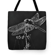Crystal Meadowhawk Tote Bag by Dale Kauzlaric