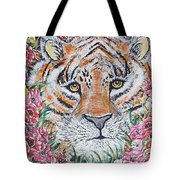 Cuddles The Tiger Small  Tote Bag