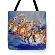 Curious Giraffes  Tote Bag