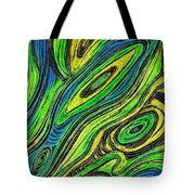 Curved Lines 5 Tote Bag