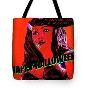 Custom Halloween Card She-devil Tote Bag