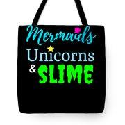 Cute Mermicorn Unicorn Mermaid Slime Birthday Tote Bag