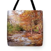 Cypress Creek As It Exits Blue Hole Regional Park In Wimberley, Hays County Texas Hill Country Tote Bag