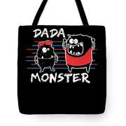 Dada Monster Cute Monster Cartoon For Kids And Dad Dark Tote Bag