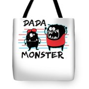 Dada Monster Cute Monster Cartoon For Kids And Dad Light Tote Bag
