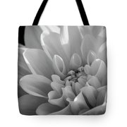 Dahlia In Monochrome Tote Bag