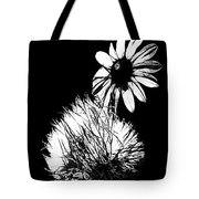Daisy And Thistle Black And White Tote Bag