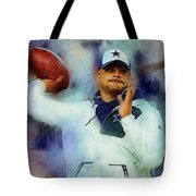 Dallas Cowboys.dak Prescott. Tote Bag
