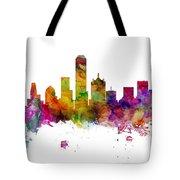 Dallas Texas Skyline Panoramic Tote Bag