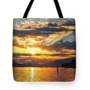 Dalton Point Sunrise Tote Bag