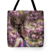 Dancing And Cherry Blossoms Tote Bag