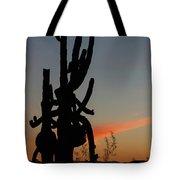 Dancing Saguaro Cactus Tote Bag