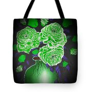Dark And Delicious Roses  In Green Tote Bag