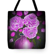 Dark And Delicious Roses In Pink Lilac Tote Bag