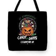 Darts Dart Pumpkin Jack O Lantern Halloween Tote Bag