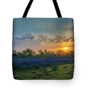 Daybreak In The Land Of Bluebonnets Tote Bag