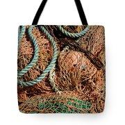 Deep Sea Fishing Nets And Buoys Tote Bag