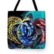 Deep Sea Sea Turtle Tote Bag
