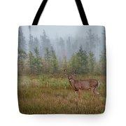 Deer Mist Fog Landscape Tote Bag by Patti Deters
