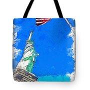 Defending Liberty Watercolor By Ahmet Asar Tote Bag