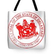 Delaware Seal Stamp Tote Bag