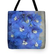 Delightful Delphiniums By Tl Wilson Photography Tote Bag by Teresa Wilson
